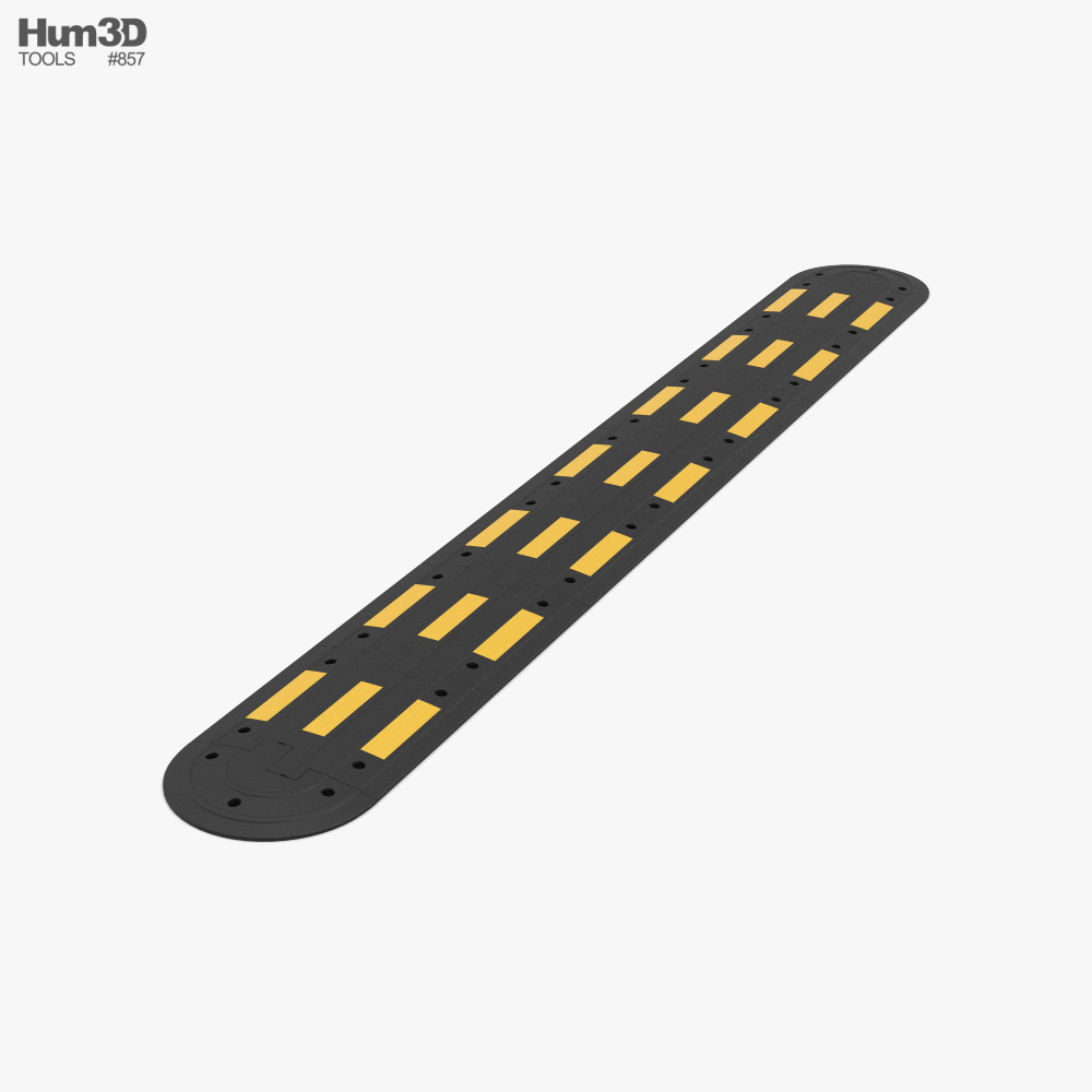 Traffic Safety Speed Bump Type 2 3D model