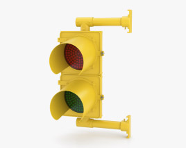 Two Section Traffic Light NY Style 3D model