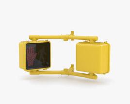 Walk Signal Double 3D model