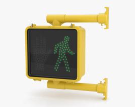 Walk Signal Single 3D-Modell