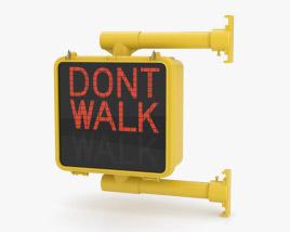 Walk/Don't Walk Pedestrian Signal Single 3D model