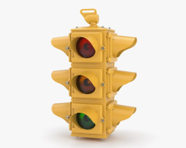 Crouse-Hinds 4-way Traffic Light Old Style 3D model