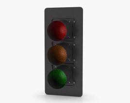 Traffic Light LA Style 3D model