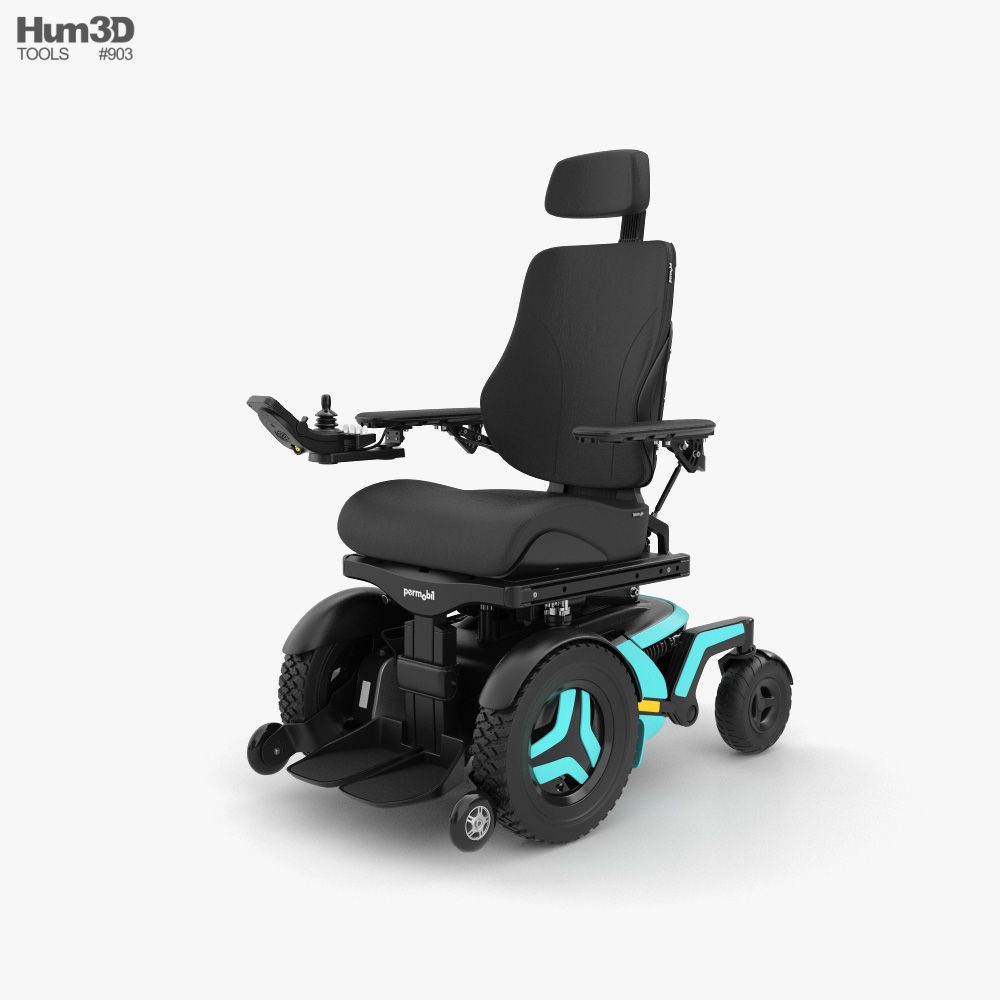 Permobil F5 Corpus Power Wheelchair 3D model