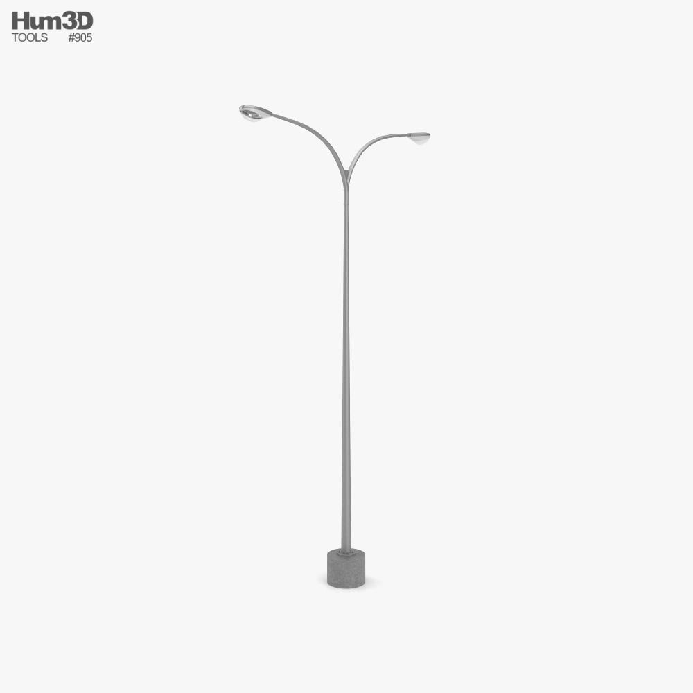Lamp Post Double 3d model