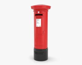 Post Box London Style 3D model