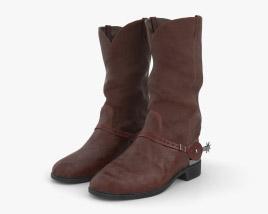 Cowboy Boots 3D model