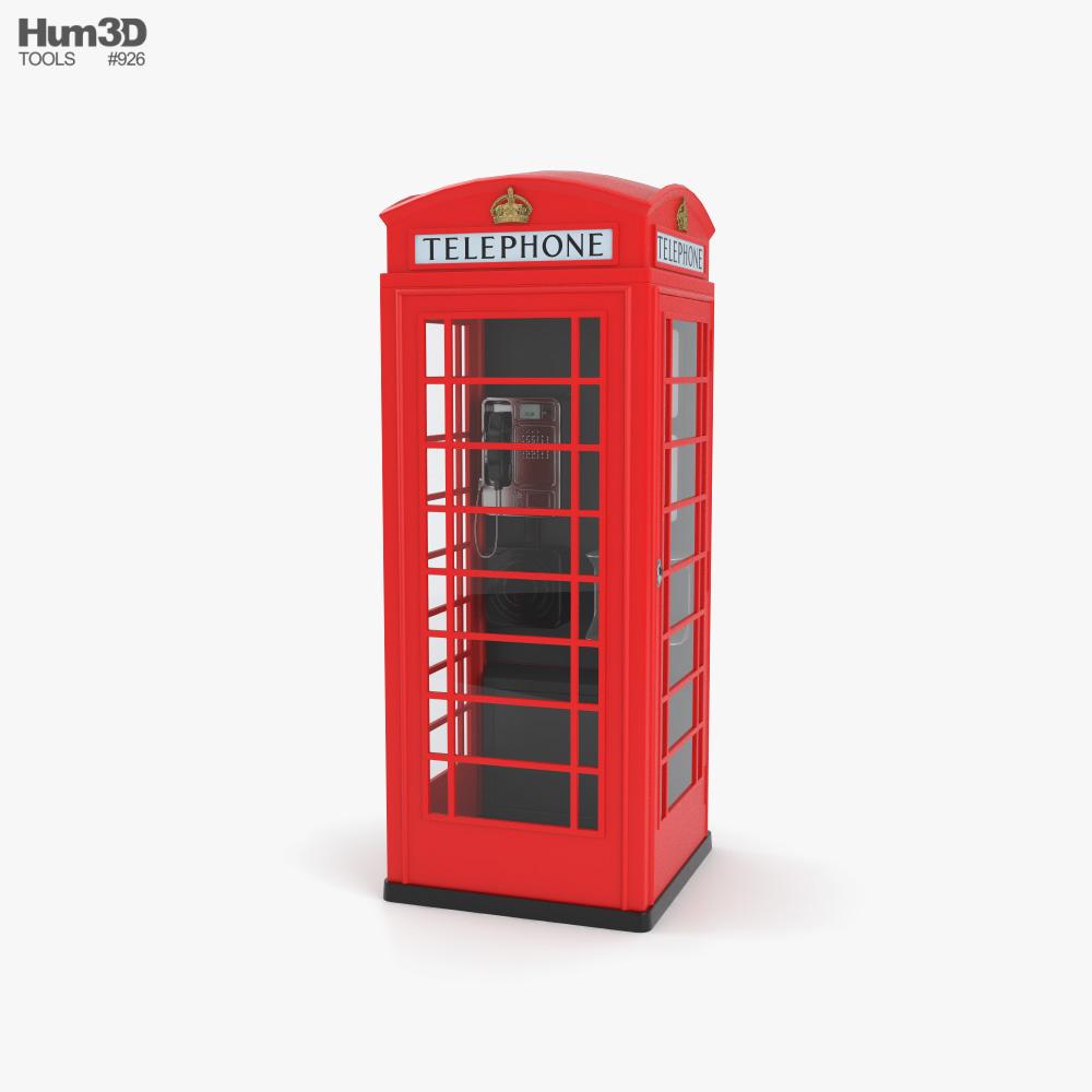 London Phone Booth 3D model
