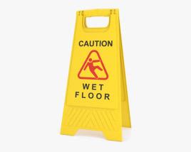 Schild für nassen Boden 3D-Modell
