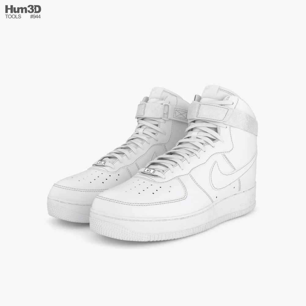 Nike Air Force 1 High 3d model