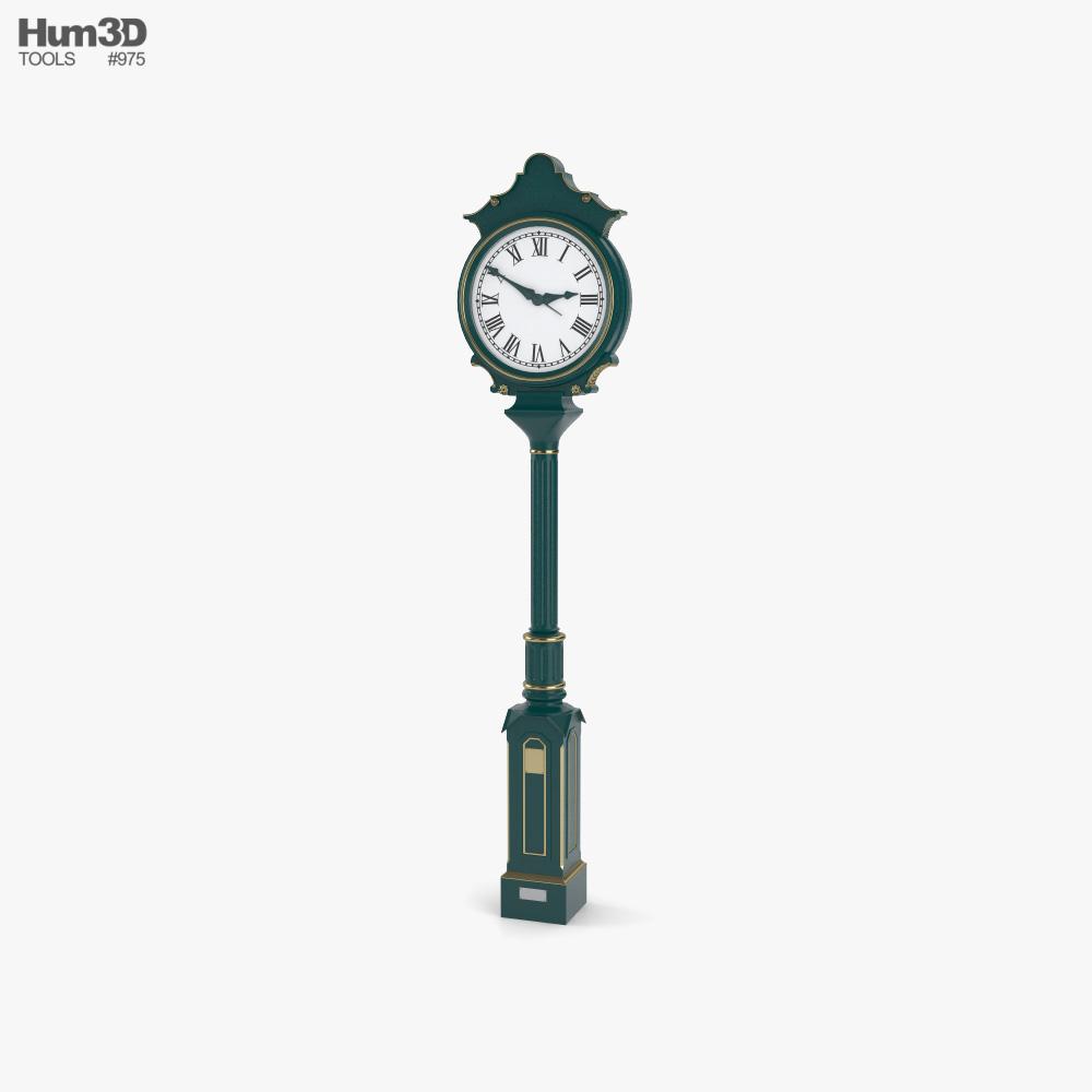 Street Clock 3D model