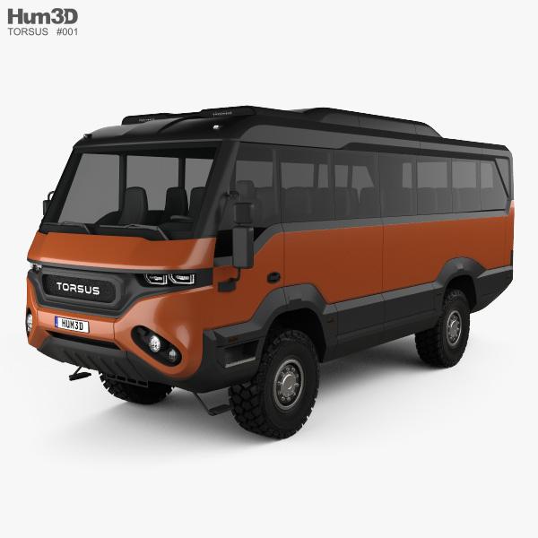Torsus Praetorian Bus 2018 3D model