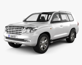 3D model of Toyota Land Cruiser 200 2010