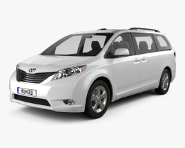 3D model of Toyota Sienna 2011