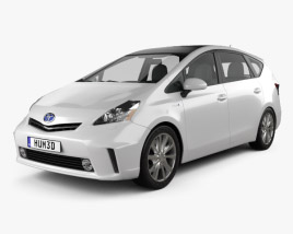3D model of Toyota Prius V 2011