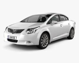 3D model of Toyota Avensis sedan 2009