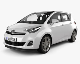 3D model of Toyota Ractis (Verso S) 2012