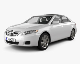 3D model of Toyota Camry 2010 with HQ Interior