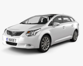 3D model of Toyota Avensis Tourer 2009