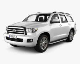 3D model of Toyota Sequoia 2011