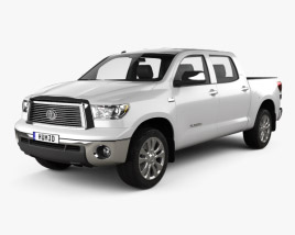 3D model of Toyota Tundra Crew Max 2011