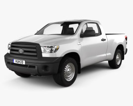 3D model of Toyota Tundra Regular Cab 2011