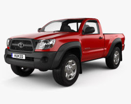 3D model of Toyota Tacoma Regular Cab 2011