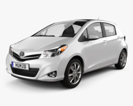 3D model of Toyota Yaris (Vitz) 5door 2012