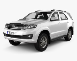 3D model of Toyota Fortuner 2012