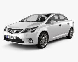 3D model of Toyota Avensis Sedan 2012
