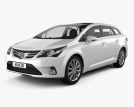 3D model of Toyota Avensis Tourer 2012