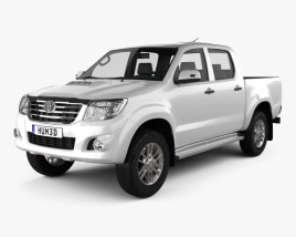 3D model of Toyota Hilux Double Cab 2012