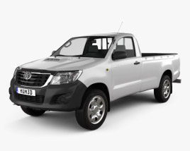 3D model of Toyota Hilux Regular Cab 2012