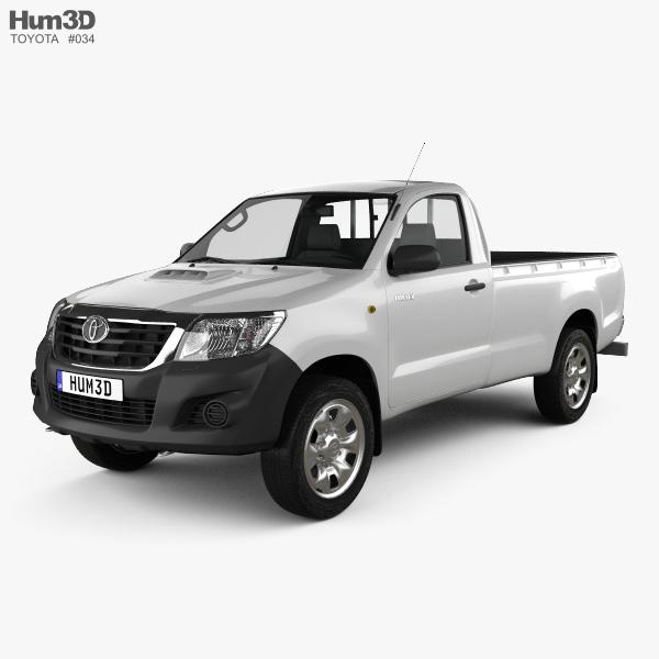 Toyota Hilux Regular Cab 2012 3D model
