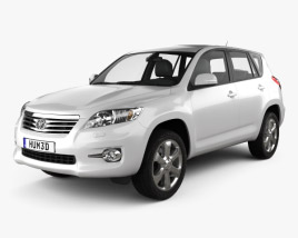 3D model of Toyota Rav4 European (Vanguard) 2012
