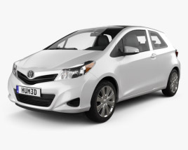 3D model of Toyota Yaris 3-door 2012