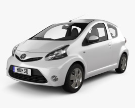 3D model of Toyota Aygo 3-door 2012