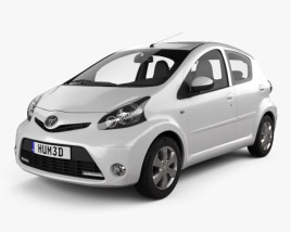 3D model of Toyota Aygo 5-door 2013