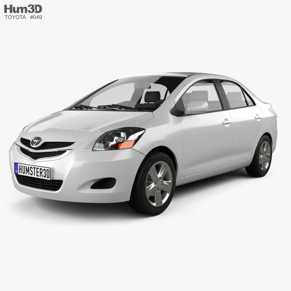 Toyota Yaris sedan (Vios, Belta) 2011 3D model