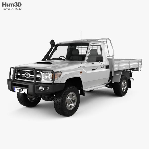 Toyota Land Cruiser (J70) Pickup GXL 2008 3D model