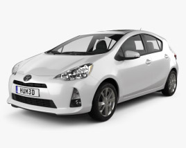 3D model of Toyota Prius C (Aqua) 2012