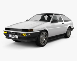 3D model of Toyota Sprinter Trueno AE86 3-door 1985