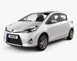 3D model of Toyota Yaris (Vitz) Hybrid 2013