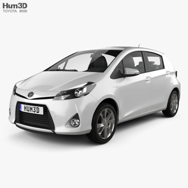 Toyota Yaris (Vitz) Hybrid 2013 3D model