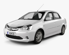 3D model of Toyota Etios 2012