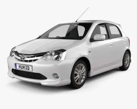 3D model of Toyota Etios Liva 2012
