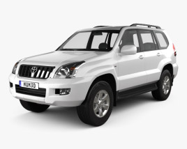 3D model of Toyota Land Cruiser Prado (120) 5-door 2009