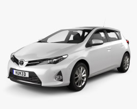3D model of Toyota Auris hatchback 2013