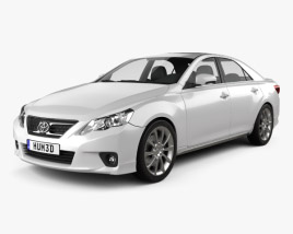 3D model of Toyota Mark X 2012