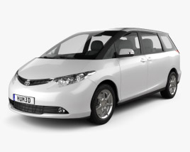 3D model of Toyota Previa 2012
